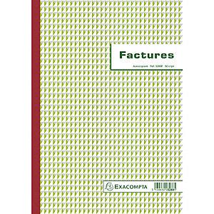 Exacompta Manifold Factures avec mention TVA 29,7x21cm 50 feuillets tripli autocopiants