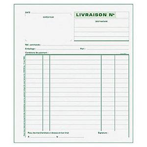 Exacompta Manifold LIVRAISONS - 21 x 18 cm - 50 feuilles autocopiantes 3 exemplaires
