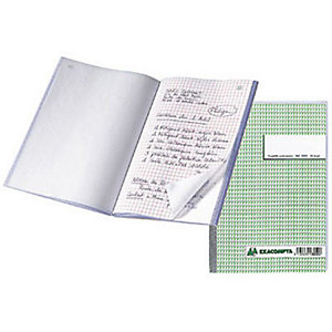 Exacompta Manifold quadrillé 5x5 - 21 x 14,8 cm - 50 feuilles autocopiantes 3 exemplaires