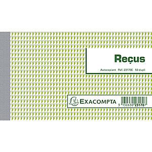 EXACOMPTA Manifold Reçus 10,5x18cm 50 feuillets dupli autocopiants