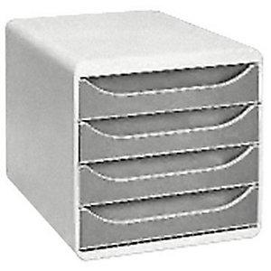 Exacompta Module de classement Big Box 4 tiroirs - corps et tiroirs gris