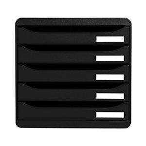 Exacompta Module de classement Big Box 5 tiroirs - corps et tiroirs noir