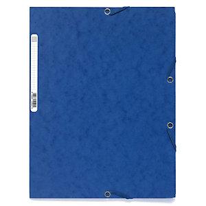 Exacompta Nature Future® Carpeta de gomas, A4, 3 solapas, 250 hojas, cartón prensado, azul