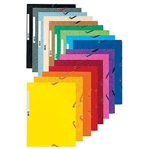 Exacompta Nature Future® Carpeta de gomas, A4, 3 solapas, 250 hojas, cartón prensado, colores surtidos