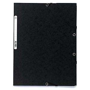 Exacompta Nature Future® Carpeta de gomas, A4, 3 solapas, 250 hojas, cartón prensado, negro
