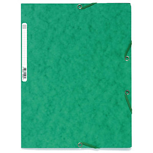 Exacompta Nature Future® Carpeta de gomas, A4, 3 solapas, 250 hojas, cartón prensado, verde