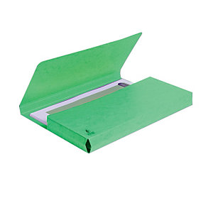 Exacompta Nature Future® Cartella portadocumenti Formato A4 Capacità 300 fogli Cartoncino da 220 g/m² Verde (confezione 10 pezzi)