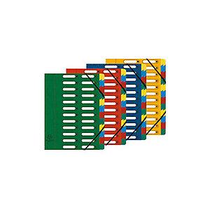Exacompta Nature Future® Harmonika® Clasificador con compartimentos con lomo expansible y ventanas troqueladas en cartón prensado tamaño A4 de 840 hojas 24 compartimentos de 240 x 320 mm verde
