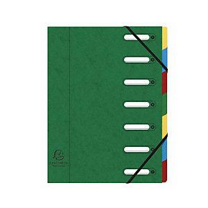 Exacompta Nature Future® Harmonika® Raccoglitore a scomparti con Dorso espandibile e Finestrelle incorporate Formato A4 7 scomparti 240 x 320 mm Cartoncino Verde
