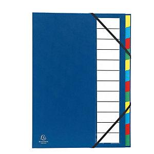 EXACOMPTA Nature Future® Ordonator®-sorteermap, 12 compartimenten, harmonicarug, A4 600 vellen, 235 x 335 mm, polypropyleen, blauw
