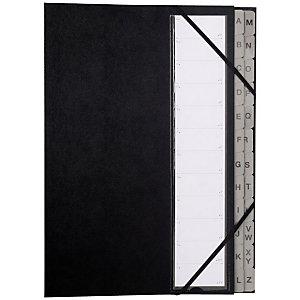 Exacompta Ordonator Clasificador con fuelle, alfabético A-Z, 26 pestañas, negro