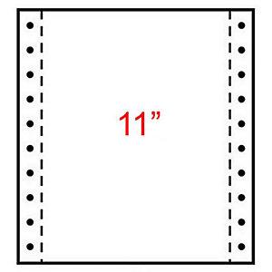 Exacompta Papier Listing 240 x 280 mm  Blanc, 1 pli 70g/m² Carton de 2000 Feuilles