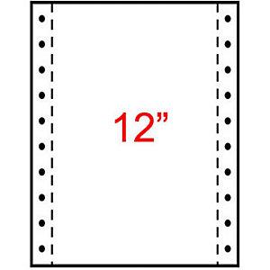 Exacompta Papier Listing 240 x 305 mm  Blanc, 1 pli 70g/m² Carton de 2000 Feuilles