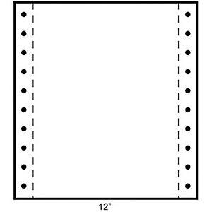 Exacompta Papier Listing 240 x 305 mm  Blanc 56+53+57g/m² Carton de 1000 Feuilles