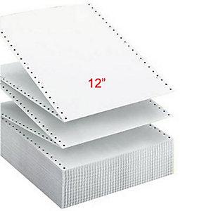 Exacompta Papier Listing 305 x 240 mm  Blanc 56+57g/m² Carton de 1000 Feuilles