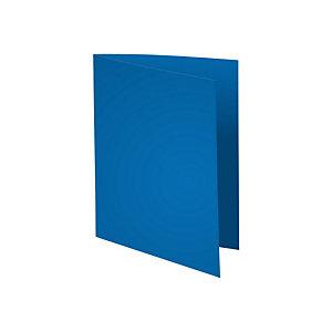 Exacompta Paquet de 100 chemises Flash 220 teintes vives coloris bleu foncé, format 320x24 cm