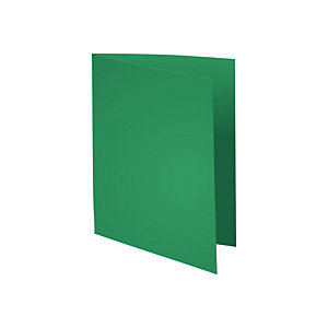 Exacompta Paquet de 100 chemises Flash 220 teintes vives vert foncé, format 320x24 cm