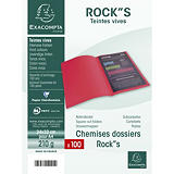 Exacompta Paquet de 100 chemises ROCK'S en carte 210 grammes coloris vert clair