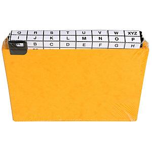 EXACOMPTA Paquet de 24 guides alphabétiques en carte à onglets métalliques, pour fiches 148x210mm
