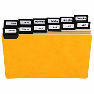 EXACOMPTA Paquet de 25 guides alphabétiques en carte, à onglets métalliques, pour fiches 75x125mm