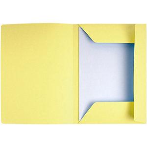 EXACOMPTA Paquet de 50 chemises 3 rabats avec cadre d'indexage Jura 250 jaune