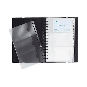 Exacompta Porte-cartes de visite Exactive® Exacard, 20pochettes amovibles, 200x145mm, noir