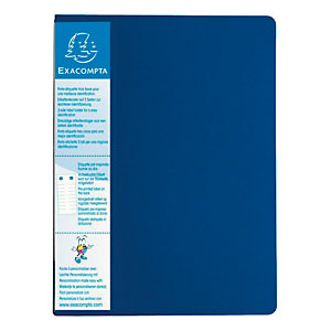 Exacompta Porte-vue Up-line, formatA4, 40pochettes, porte-étiquette à 3faces, polypropylène, bleu
