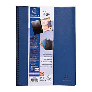 Exacompta Porte-vue Vega, formatA4, 20pochettes, PVC, bleu