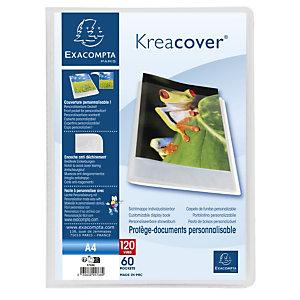Exacompta Protège-documents en polypropylène semi rigide Kreacover Chromaline 120 vues - A4