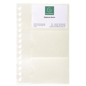Exacompta Recharge de 10 pochettes détachables pour porte cartes de visite Exactive - 19x12,5cm