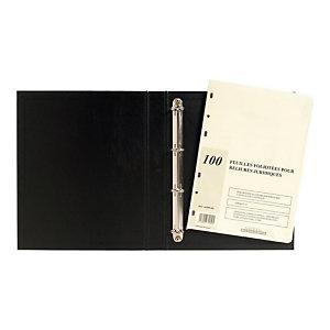 EXACOMPTA Recharge universelle 100 feuilles foliotées, perforation 6 trous (Lot de 5)