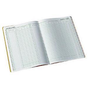 Exacompta Registre comptable à colonnes - Piqûre Journal folioté 7600 - H.32 x L.19,5 cm