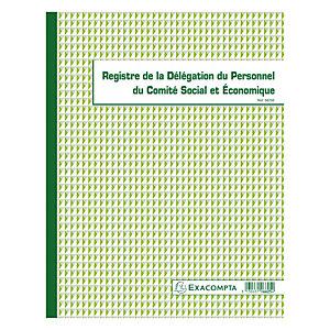 Exacompta Registre délégation du Personnel du CSE, piqûre 32 X 24 cm - 30 pages