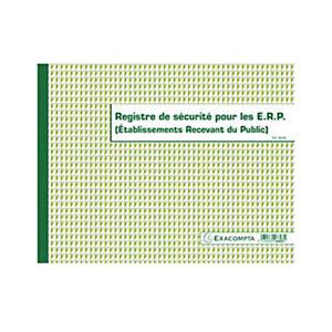 Exacompta Registre de sécurité pour les ERP (Etablissements Recevant du Public), 24 x 32 cm, 32 pages