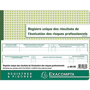 Exacompta Registre unique des résultats de l'évaluations des risques professionnels - 60 pages, 24 x 32 cm