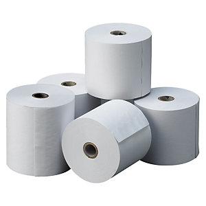Exacompta Rollo de papel térmico sin BPA, 80 x 80 x 12 mm, 48 gr