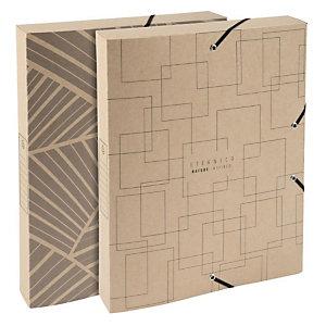 Exacompta Scatola archivio Box A4, Dorso 25 mm, Disegni assortiti