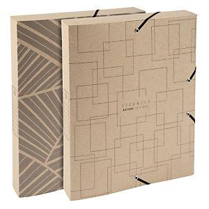 Exacompta Scatola archivio Box A4, Dorso 40 mm, Disegni assortiti