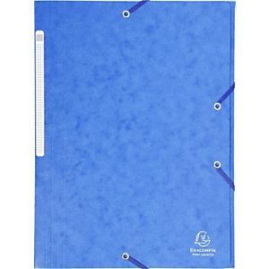 Exacompta Scotten Nature Future® Carpeta de gomas, A4, 3 solapas, lomo 35 mm, 300 hojas, cartón prensado, azul