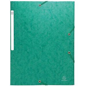 Exacompta Scotten Nature Future® Carpeta de gomas, A4, 3 solapas, lomo 35 mm, cartón prensado, verde