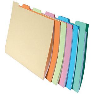 Exacompta Subcarpetas con 6 pestañas - Colores surtidos