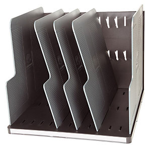 EXACOMPTA Trieur EXACOMPTA Modulotop - 5 séparateurs - Noir/Gris