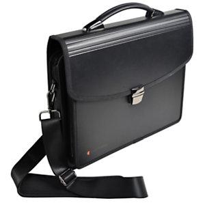 Exacompta Valisette multifonctions Exatravel Exactive® 200 feuilles A4 7 compartiments Permet de transporter un ordinateur portable 15pouces (26 x 38 cm) Polypropylène Noir