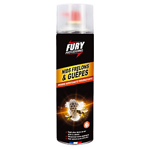 Exterminateur nids de guêpe et frelon Fury, aérosol de 500 ml
