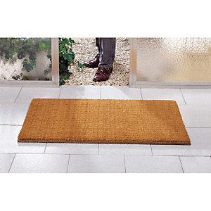 Extra geweven kokos borstelmat 40 x 80 cm  dikte 25 mm kleur naturel