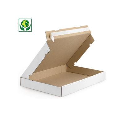 Boîte blanche extra-plate avec fermeture adhésive Raja##Extra platte doos met zelfklevende sluiting wit Raja