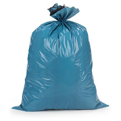 Extra starka sopsäckar - Säckarna har blå utsida och svart insida