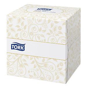 Extra zachte zakdoeken Tork, 30 kubusdoosjes van 100 zakdoeken