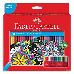 FABER CASTELL Etui Boîte château de 60 crayons de couleur