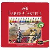 Faber-Castell Lápices de colores, cuerpo hexagonal, colores de minas variados